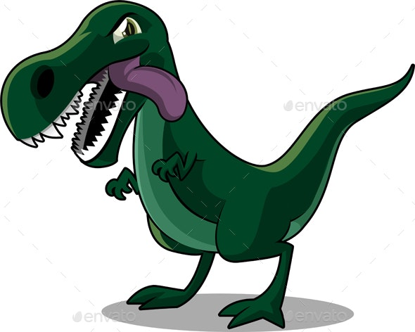 Tyrannosurus Rex Cartoon Illustration - Animals Characters