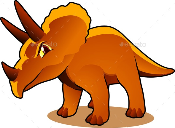 Cartoon Triceratops - Animals Characters