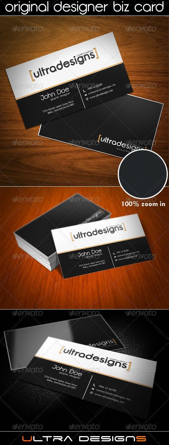 Original Designer Business Card v2 - Corporate Business Cards