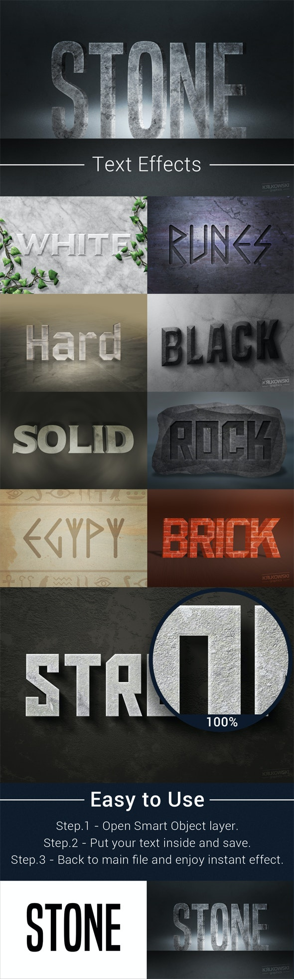 Stone Text Effects Mockup - Text Effects Actions
