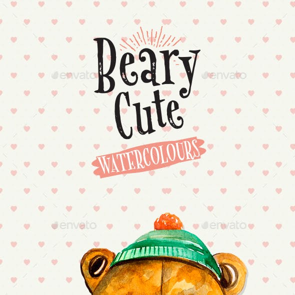 Beary Cute Watercolour Illustration by Layerform