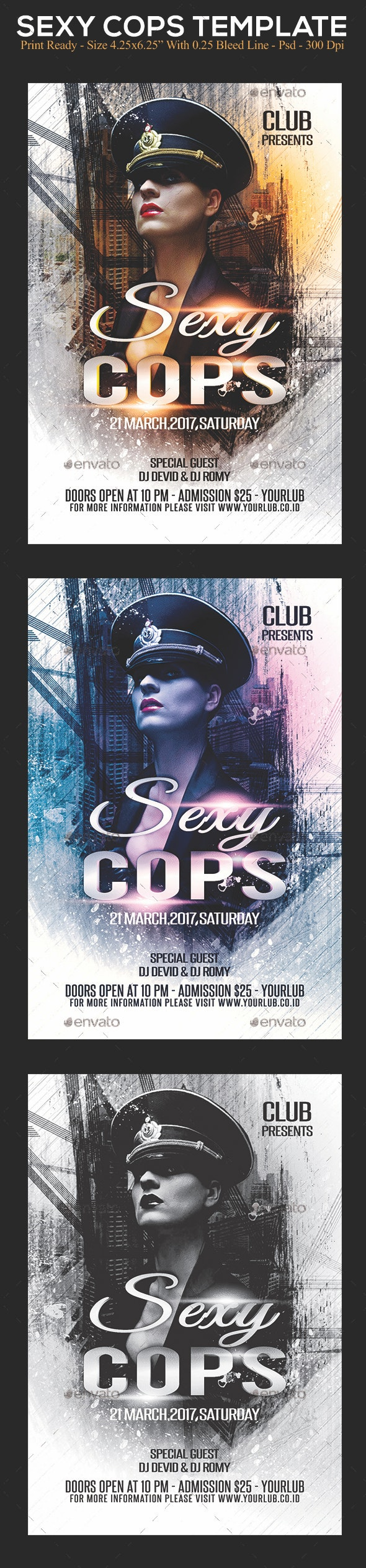 Sexy Cops - Clubs & Parties Events