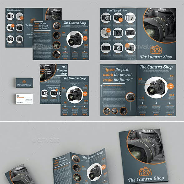 Products Brochures + Trifold + Flyer + Biz Card