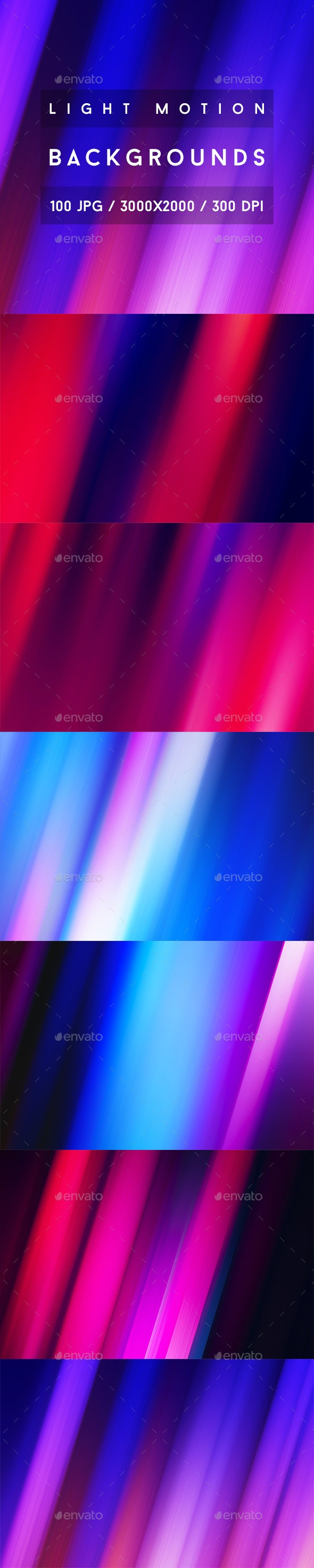 100 Light Motion Backgrounds - Abstract Backgrounds