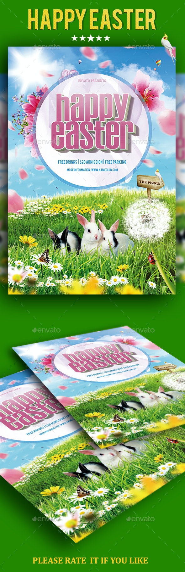 Easter Flyer Template - Events Flyers