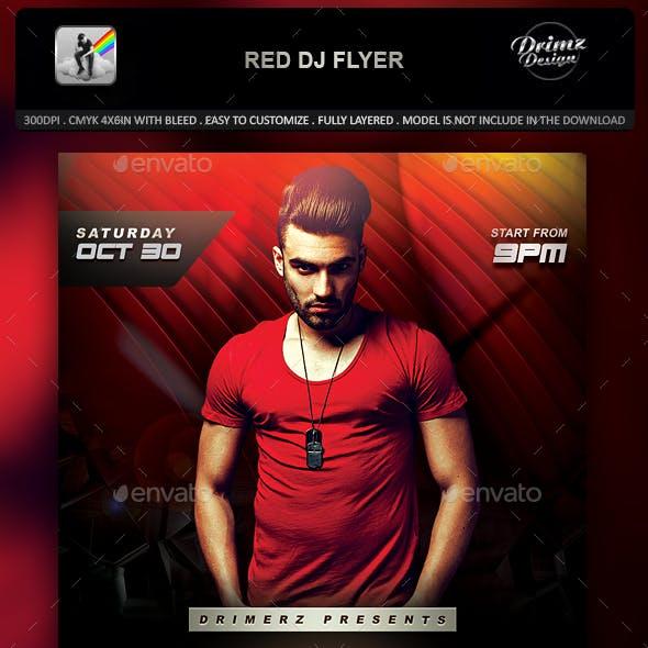 Red DJ Flyer