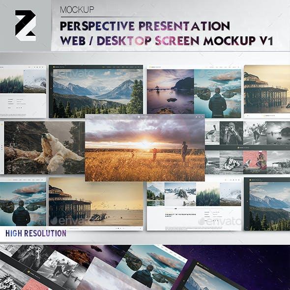 Perspective Presentation Web Mockup v1