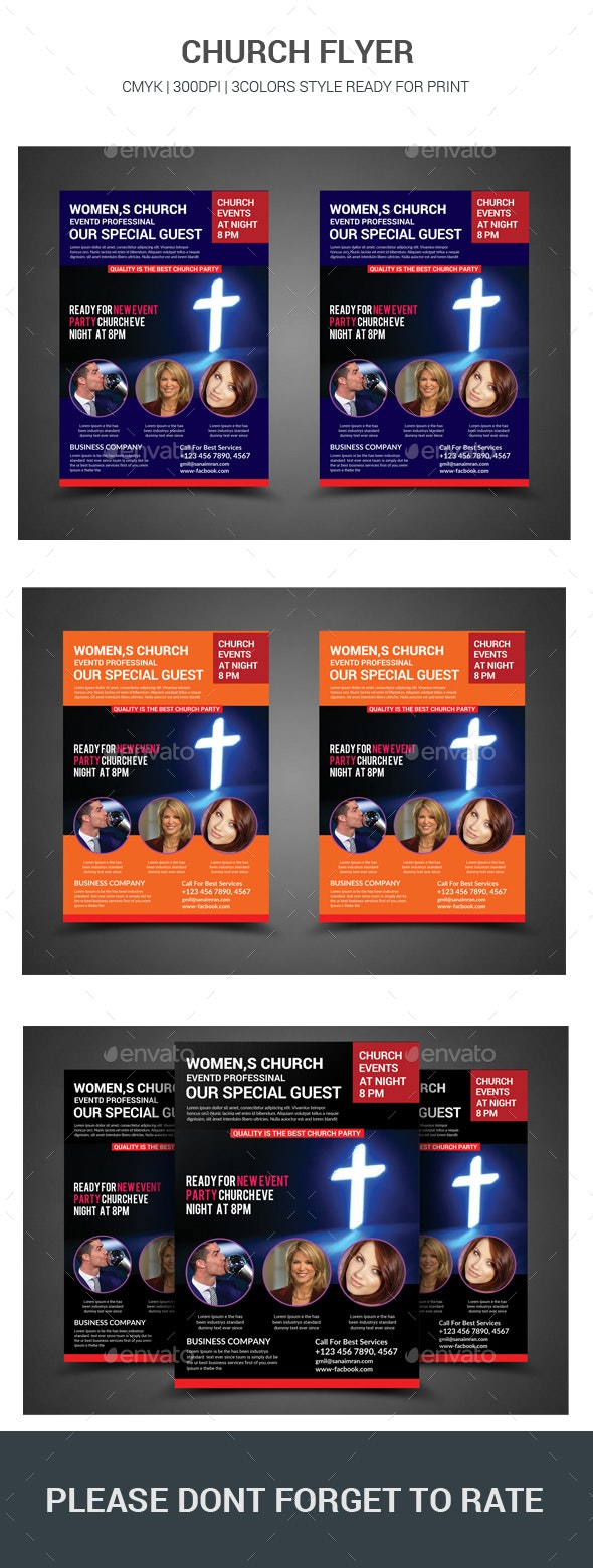 Church Flyer - Flyers Print Templates
