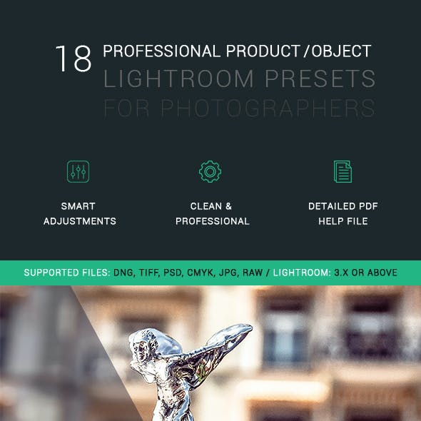 18 Professional Object/Product Lightroom Presets