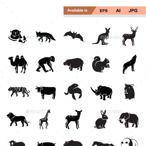 Mammals I vector icons