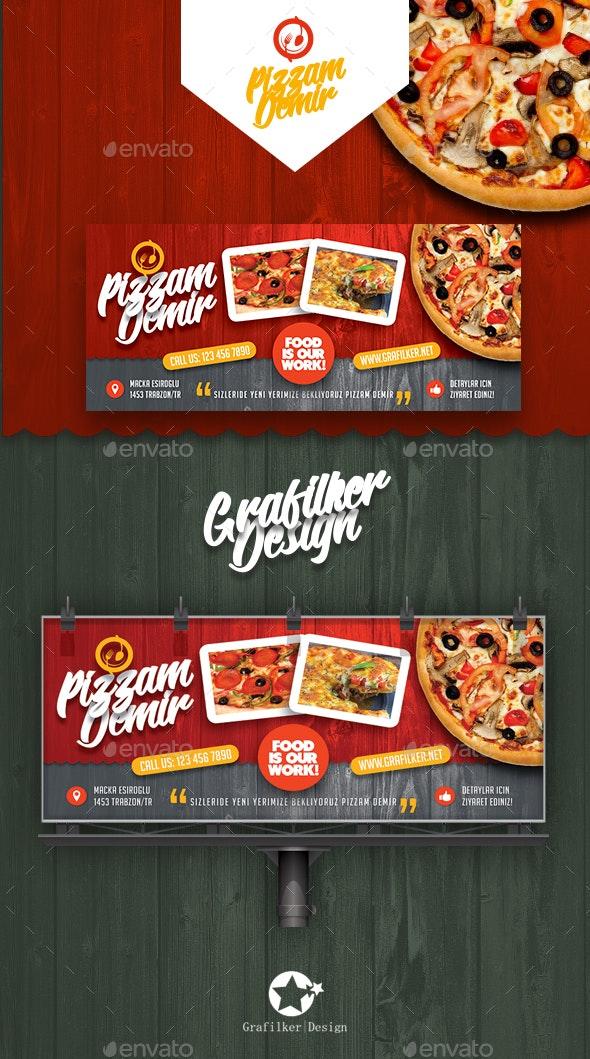 Restaurant Billboard Templates - Signage Print Templates