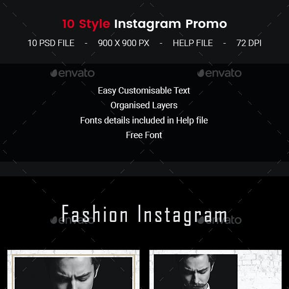 Instagram fashion promo