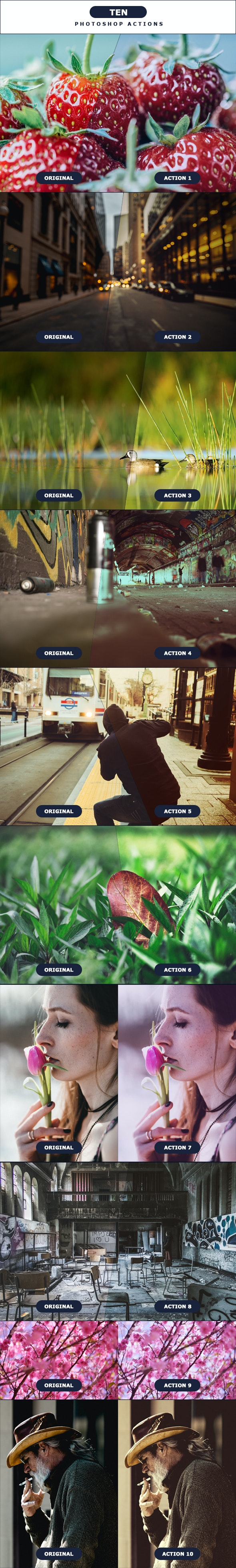 TEN - Photoshop Action 4 - Photo Effects Actions