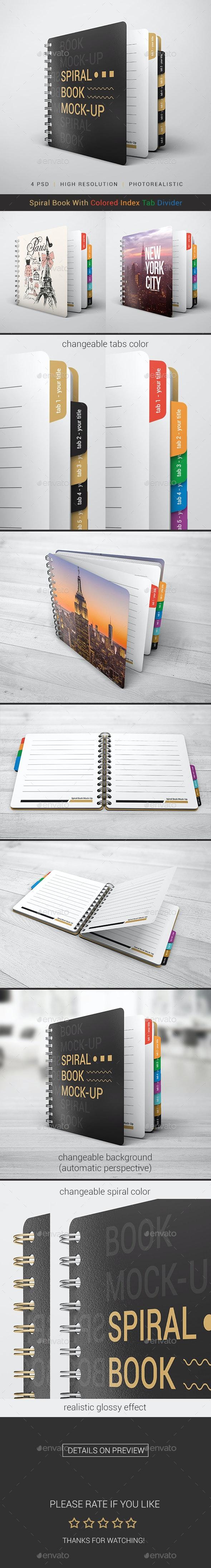 Spiral Book Mock-Up - Books Print