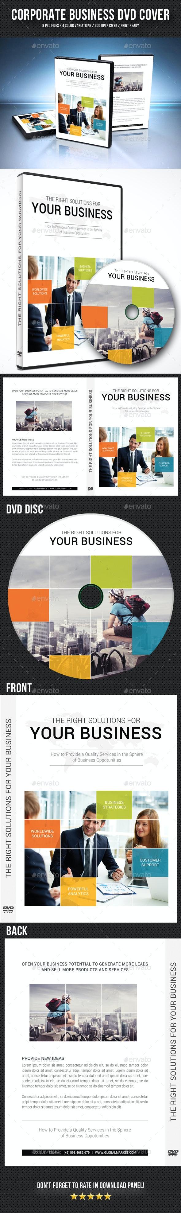 Corporate Business DVD Cover Template V11 - CD & DVD Artwork Print Templates