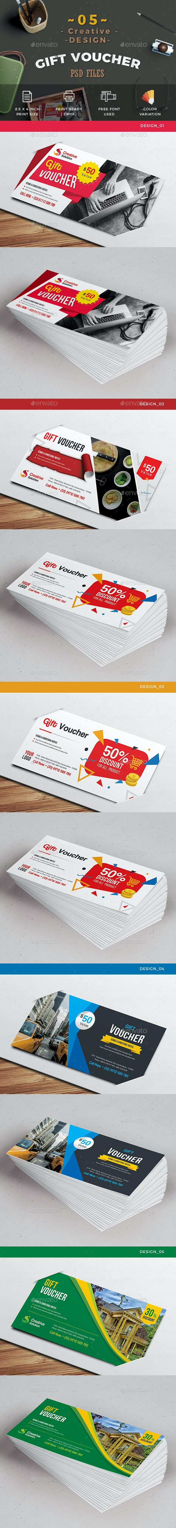 5_Design Gift Voucher - Cards & Invites Print Templates