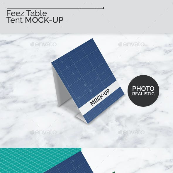 Feez Table Tent Mock-Ups