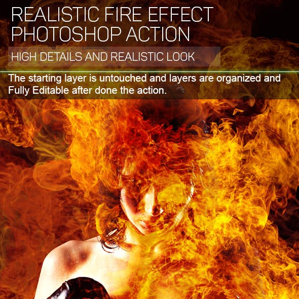 Fire Photoshop Action