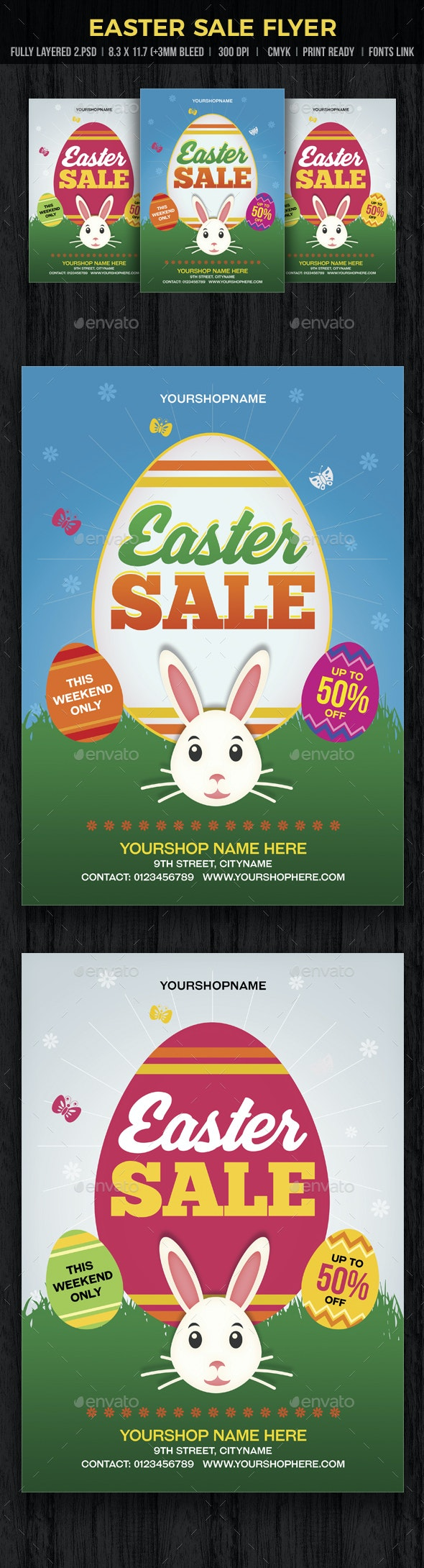 Easter Sale Flyer - Flyers Print Templates