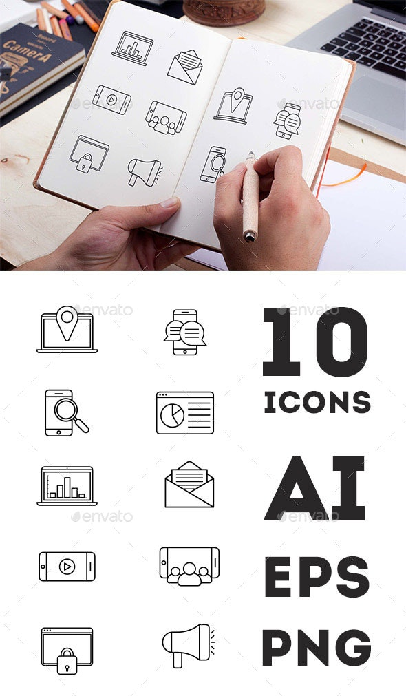 Digital marketing icons - Business Icons