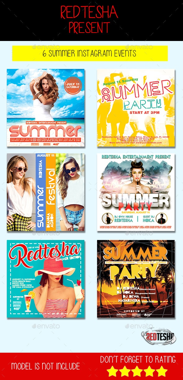 Summer Banner Event - Banners & Ads Web Elements
