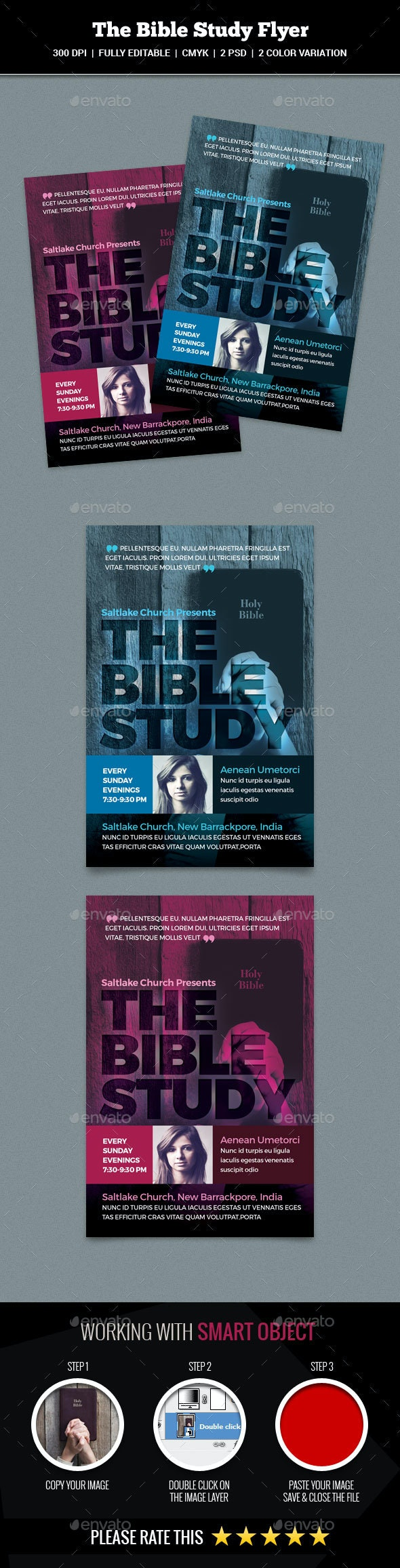 The Bible Study Flyer - Church Flyers