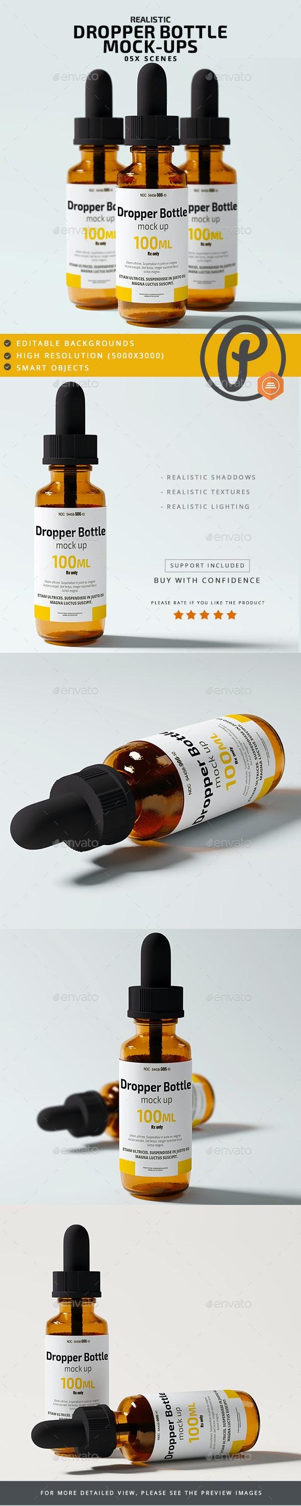 Dropper Bottle Mock Ups - Miscellaneous Packaging
