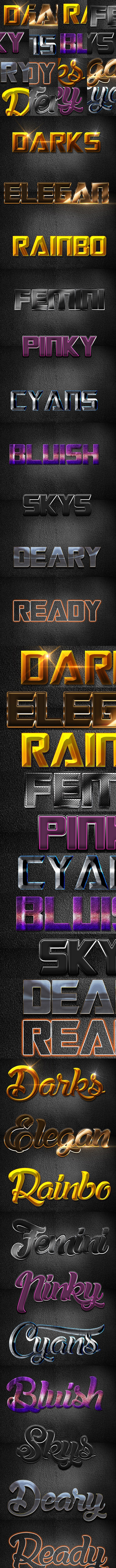 3D Text Effect B160930 - Text Effects Actions