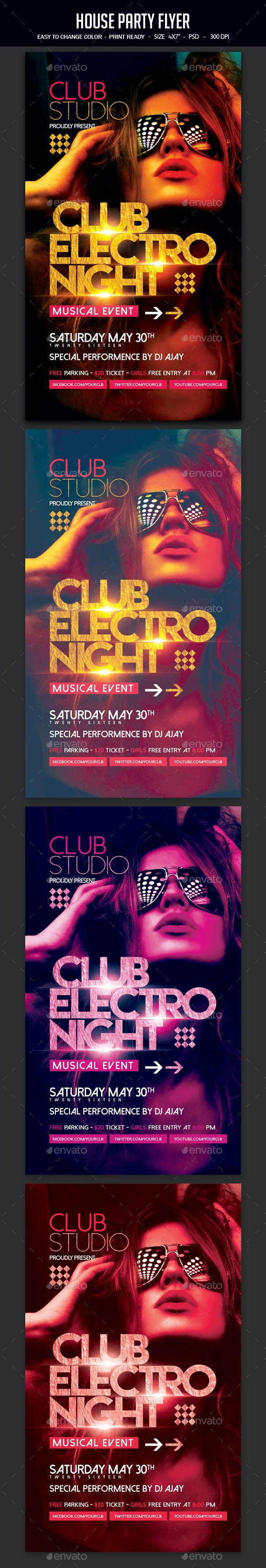 House Party Flyer - Clubs & Parties Events