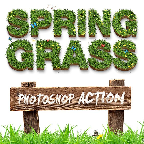 Spring Grass - Photoshop Action