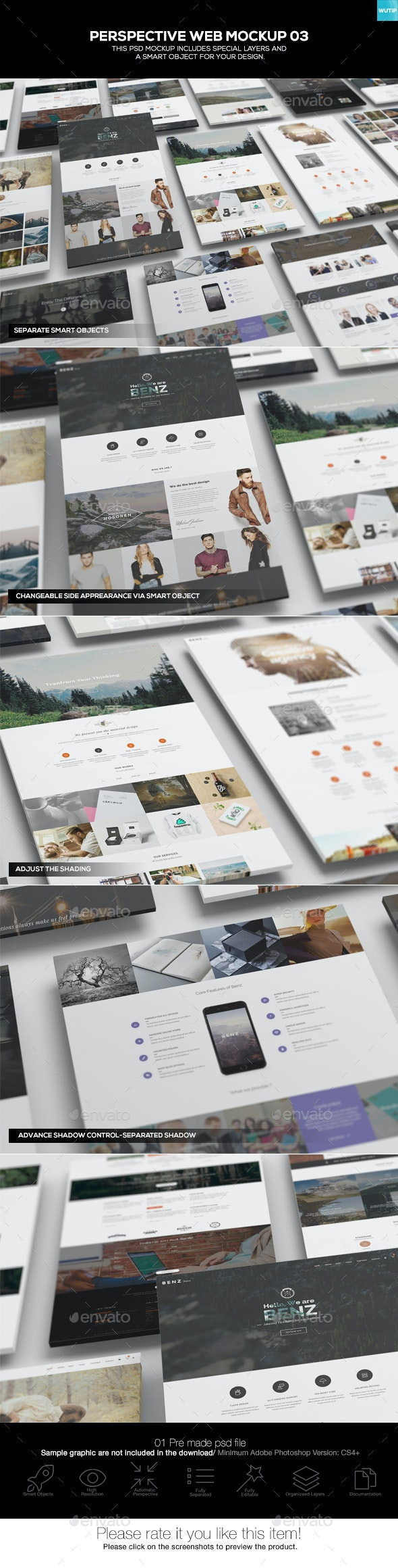 Perspective Web Mockup 03 - Website Displays