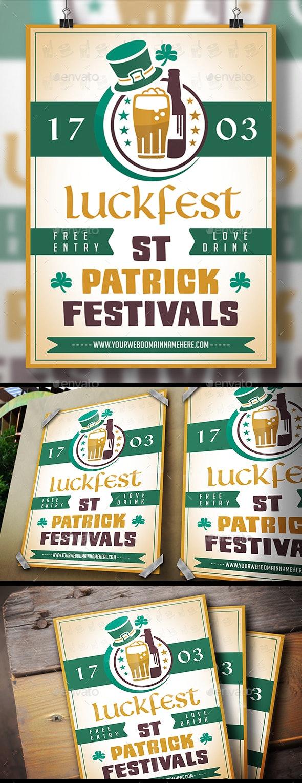 Saint Patrick Flyer - Clubs & Parties Events