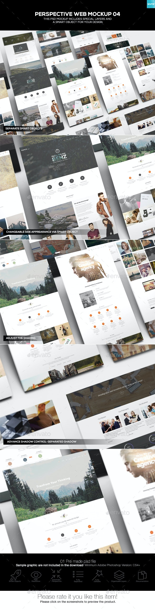 Perspective Web Mockup 04 - Website Displays