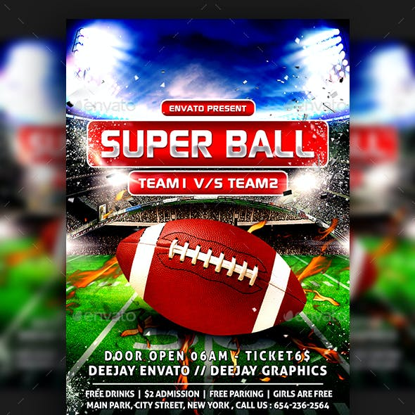 American Football Super Ball Flyer