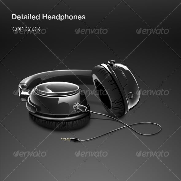 Detailed Headphones icon pack
