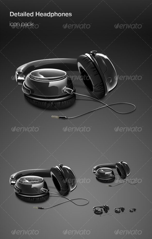 Detailed Headphones icon pack - Technology Icons