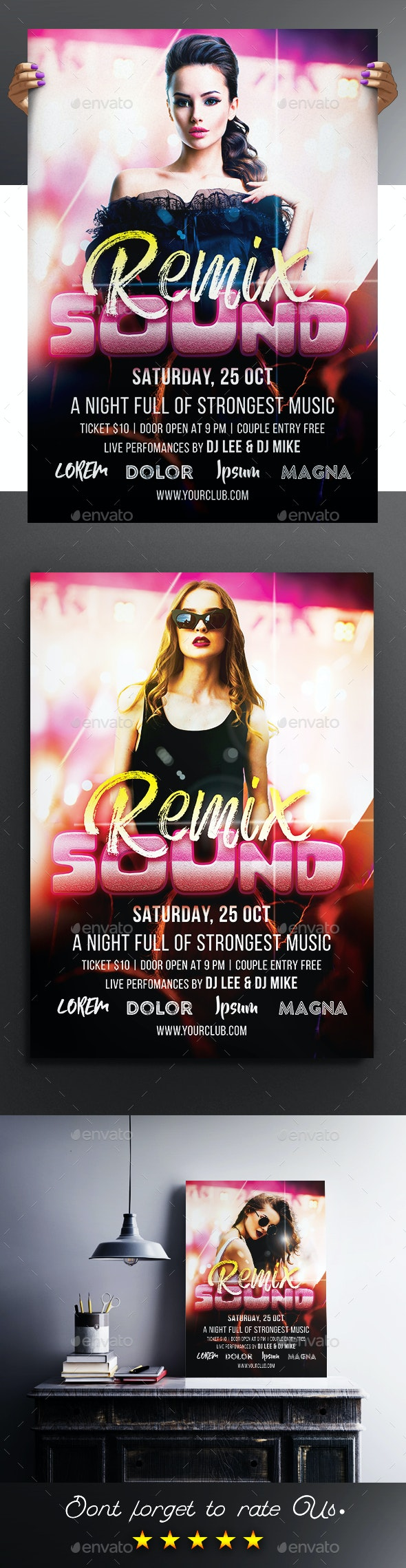Remix Sound Party Flyer / Poster - Clubs & Parties Events