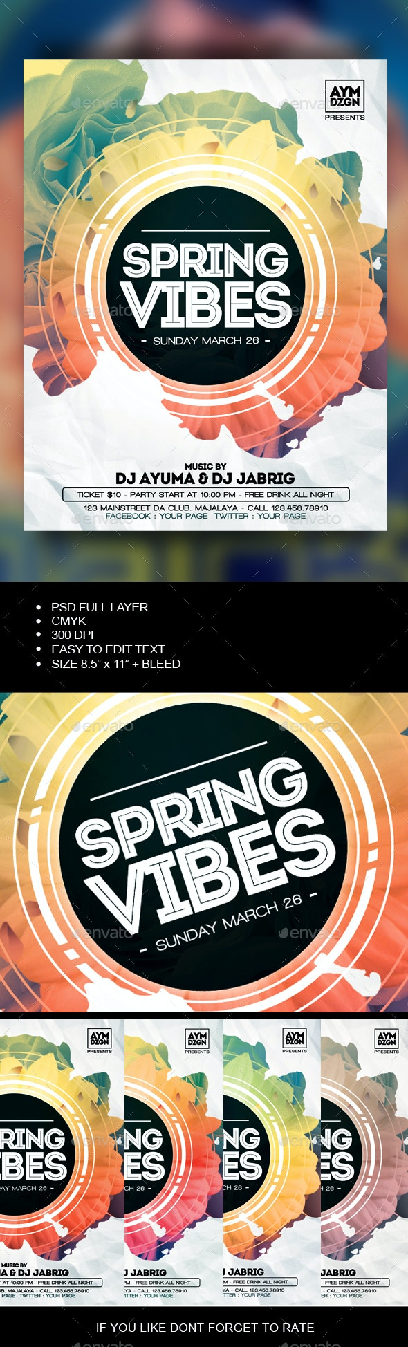 Spring Vibes Flyer - Events Flyers