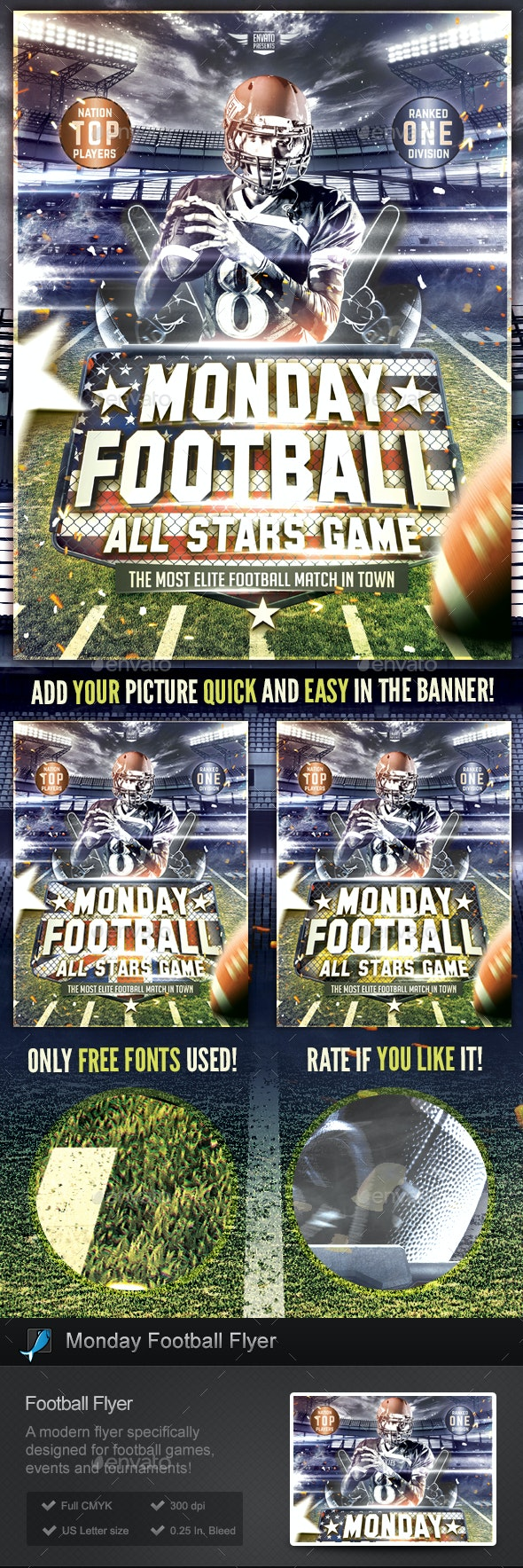 Monday Football Flyer Template - Sports Events