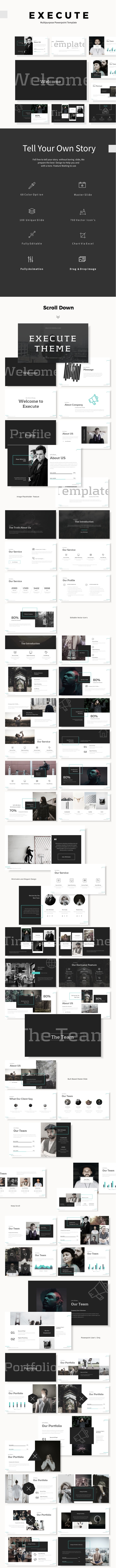 Execute Multipurpose Theme - PowerPoint Templates Presentation Templates
