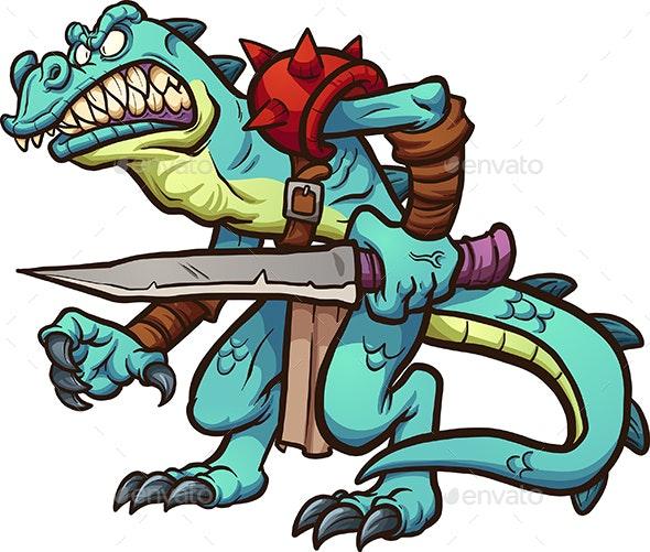 Lizard Warrior - Monsters Characters
