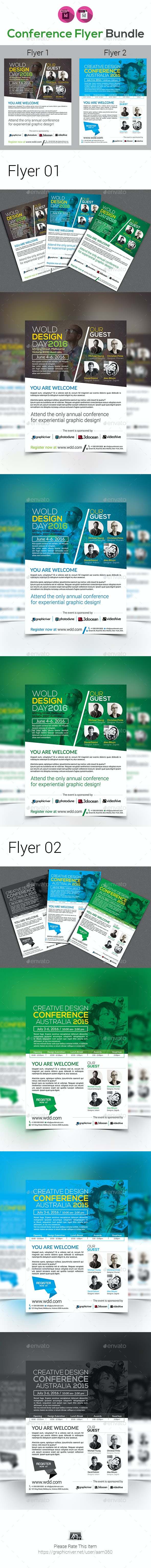 Event Summit Conference Flyer Bundle - Events Flyers