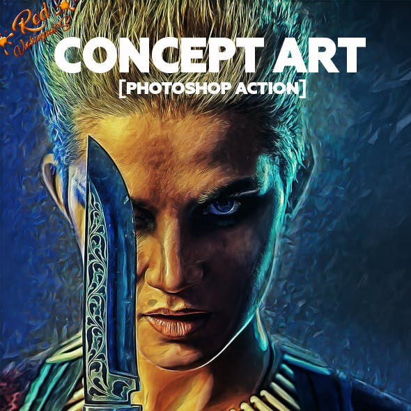Concept Art Photoshop Action