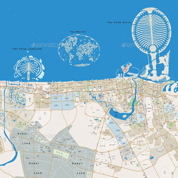 Dubai Large City Map