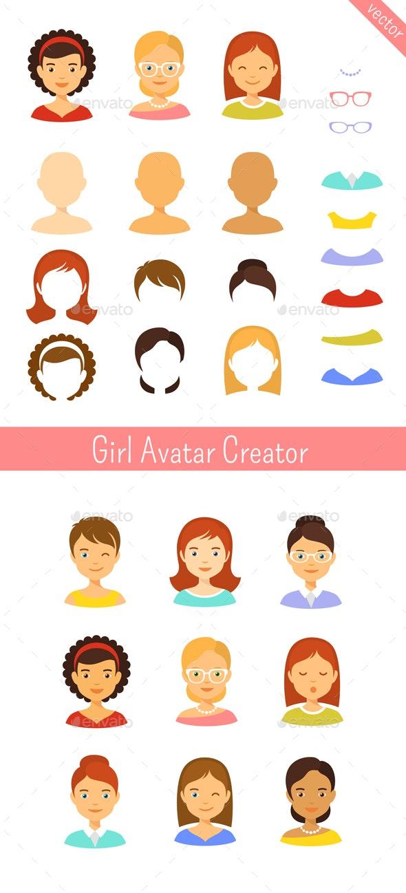 Girl Avatars Creator - People Characters