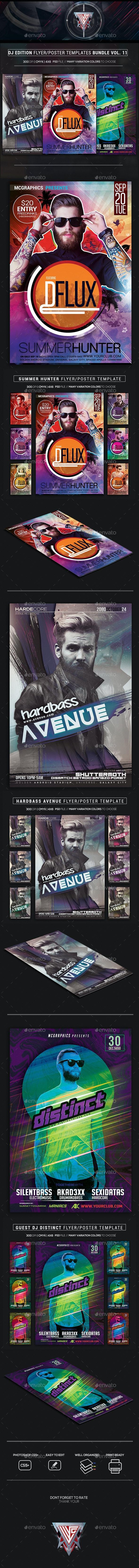 Guest DJ Party Flyer/Poster Bundle Vol. 11 - Events Flyers