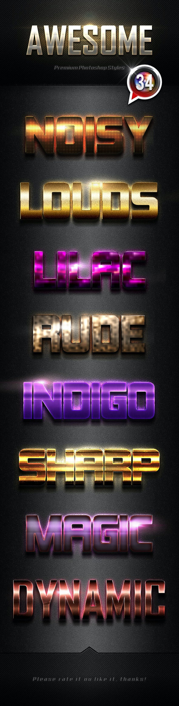 Photoshop Text Effects Vol.34 - Text Effects Styles
