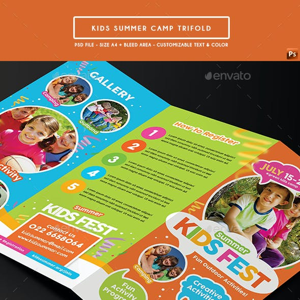 Kids Summer Camp Trifold