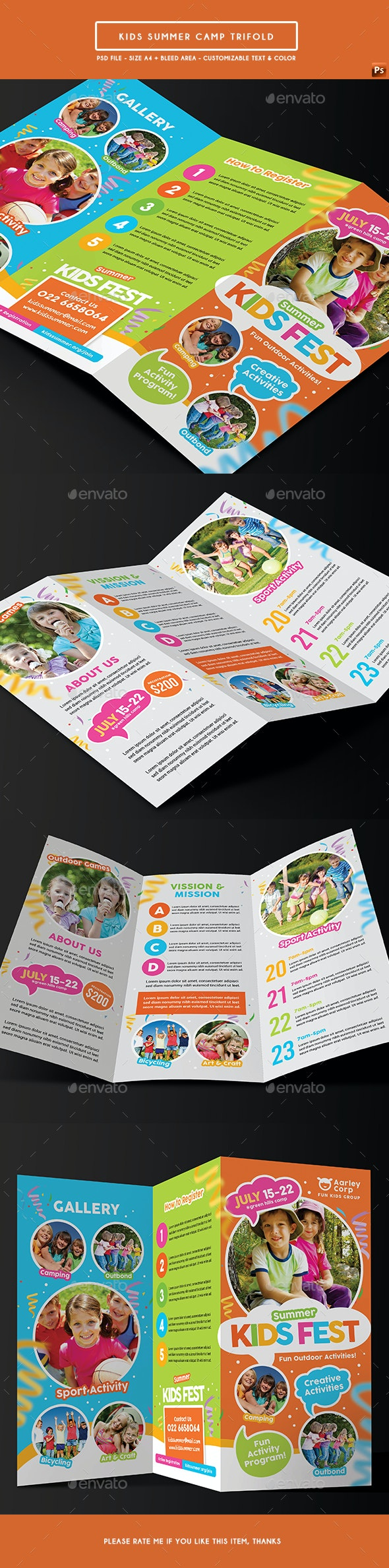 Kids Summer Camp Trifold - Corporate Flyers