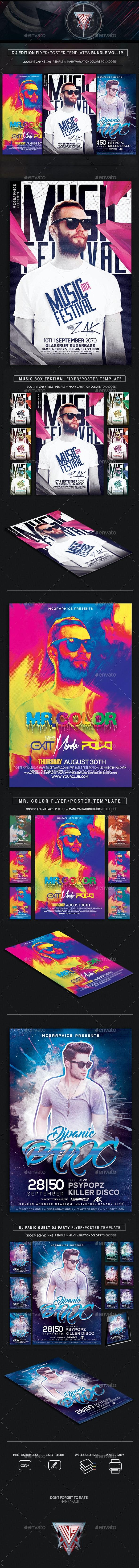 Guest DJ Party Flyer/Poster Bundle Vol. 12 - Clubs & Parties Events